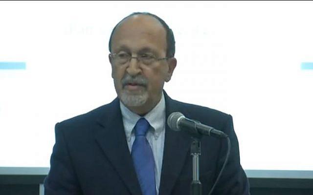 Palestinian Authority Finance Minister Nabeel Kassis. (screen capture: Youtube/PalestineExchangePEX)