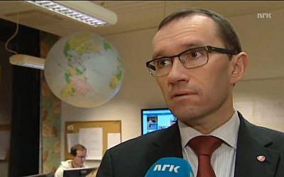 Norwegian Foreign Minister Espen Barth Eide, seen here in November 2012. (screen capture: Youtube/NRKalfatest)