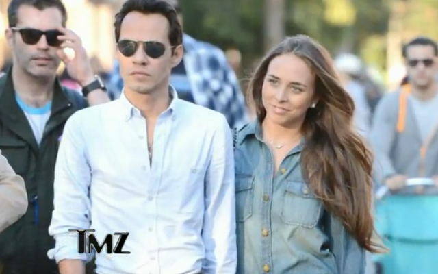 Marc Anthony, whose exes include Jennifer Lopez and a Miss Universe, recently took girlfriend Chloe Green to Disneyland. (YouTube screenshot)