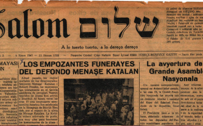 Salom, a Jewish Ladino-language weekly published in Turkey, launched in 1947, just a few years after more than half the world's Ladino speakers died in the Holocaust. (Courtesy of Salom)