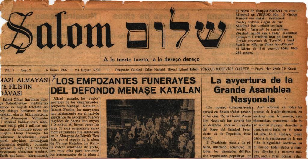 Türkische Tageszeitung in Ladino