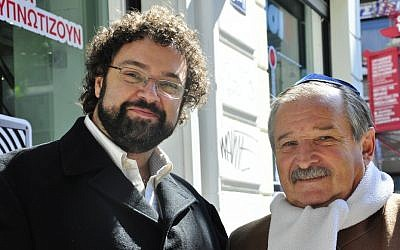 Claudio Epelman (left) and Julio Schlosser (photo credit: courtesy World Jewish Congress/Michael Thaidigsmann)