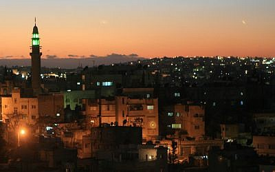 General view of Amman by night, December, 2006. (photo credit Nati Shohat /Flash90)