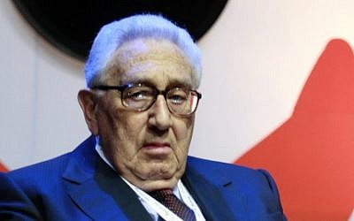 Former US national security adviser and secretary of state Henry Kissinger in Jerusalem, May 2008 (photo credit: Olivier Fitoussi/Flash90)