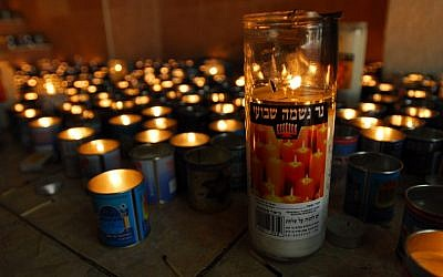Illustrative photo of memorial candles (photo credit: Gili Yaari/Flash 90)
