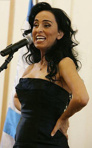 Israeli pop singer and actress Rita, February 03, 2010. (photo credit: Miriam Alster/FLASH90)