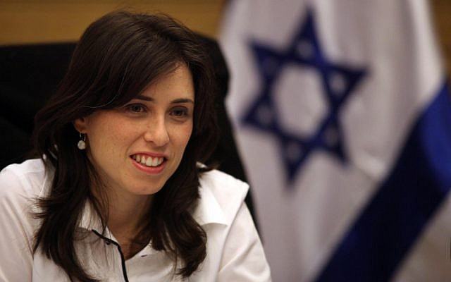 Tzipi Hotovely in the Knesset. (Abir Sultan/Flash 90)