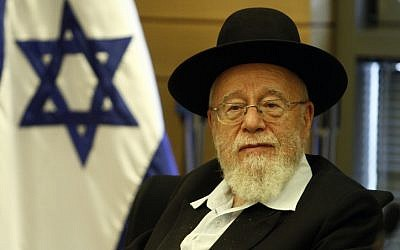 Rabbi Dov Lior, chief rabbi of Kiryat Arba (photo credit: Uri Lenz/Flash90)