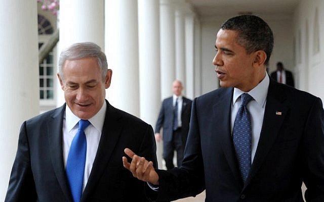 Prime Minister Benjamin Netanyahu meets with US President Barack Obama at the White House in March 2013. (photo credit: Amos Ben Gershom/GPO/Flash90)