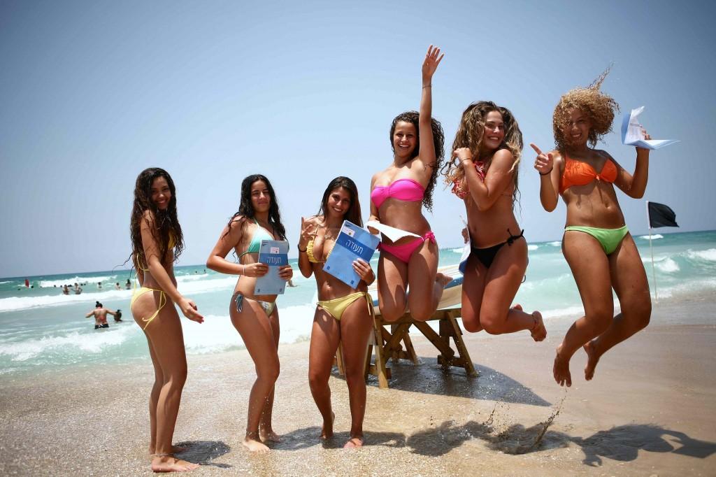 Israeli beach girls