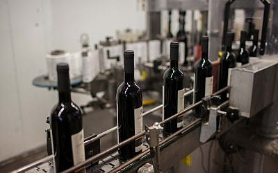 Illustrative photo of kosher wine production in Israel. (Yonatan Sindel/Flash90)