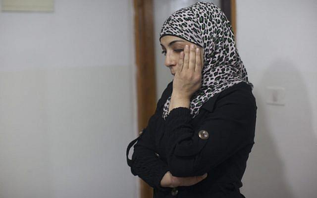 Hanna Amtir, the Palestinian victim of an attack by an Israeli woman at a Jerusalem light rail station, on February 28, 2013. (photo credit: Yonatan Sindel/Flash90)