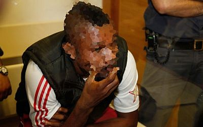 A player with the Maccabi Netanya soccer club in court (photo credit: Eyal Geffen/Flash90)