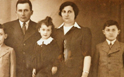 Members of the Weinrauch family, including future filmmaker Gita, center, remained in Vienna until after WWII was underway. (Courtesy of Gita Kaufman)