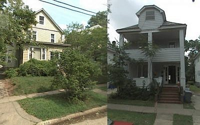 Rozanne Dittersdorf hopes recent photos of her childhood home, left, and of her friend's will help her find Phyllis Garfunkel. (Courtesy of Rozanne Dittersdorf via JTA))