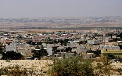 The Bedouin village of Hura in southern Israel (photo credit: CC BY-SA, by Romayan, Wikimedia Commons)