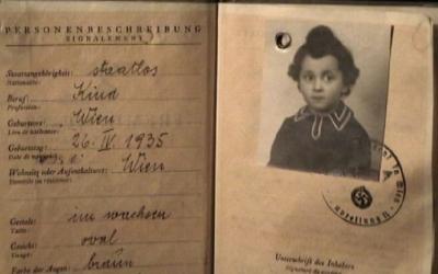 Kaufman's childhood ID bears the swastika. (Courtesy of Gita Kaufman)
