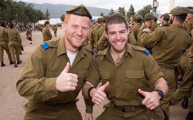 Lone soldiers graduate the IDF's Hebrew school (photo credit: courtesy of Jared Bernstein Photography/Nefesh B'Nefesh)