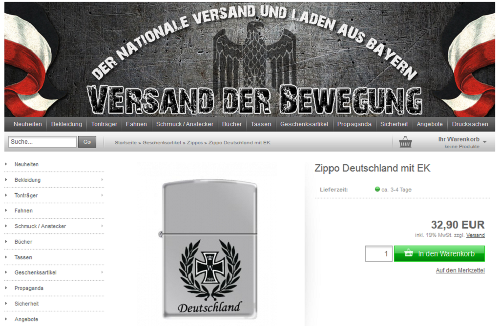 ef5f804f97d820 Zippo will no longer produce lighters with the iron cross and other images  that have been