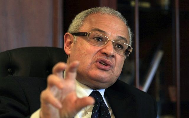 Egypt's minister of tourism, Hesham Zaazoua, speaks during an interview with the Associated Press at his office in Cairo, Egypt Thursday, March 28, 2013 (photocredit: AP/Khalil Hamra)