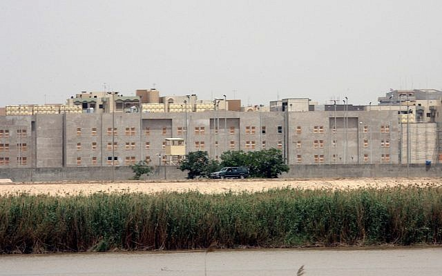 The US embassy in Bagdad, Iraq seen from across the Tigris river on May 19, 2007. (AP/File)
