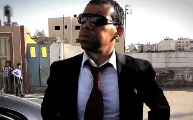 A flustered 'Barack Obama' is frustrated by delays in getting to Ramallah, in a spoof video (photo credit: screen capture YouTube)