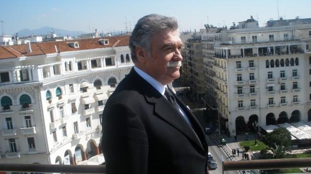 Greek Jewish community head David Saltiel (photo credit: Gavriel Fiske/Times of Israel)
