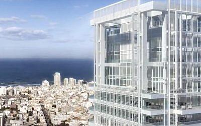 An artist's rendition of Tel Aviv's Meier on Rothschild tower (photo credit: imgae capture YouTube)