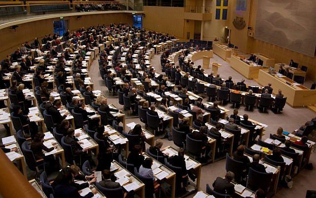 The Swedish Riksdag (photo credit: CC-BY-SA Janwikifoto/Wikimedia Commons)