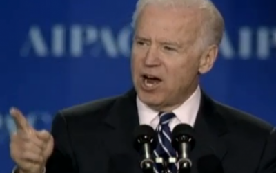 Vice President Joe Biden speaks to AIPAC on March 4, 2013 (photo credit: JLTV Screen Shot)
