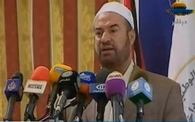 Former Hamas Interior Minister Fathi Hammad (photo credit: image capture from YouTube video uploaded by Middle East Info)