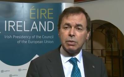 Alan Shatter, Ireland's minister of justice and defense, volunteered as a young man on a kibbutz.