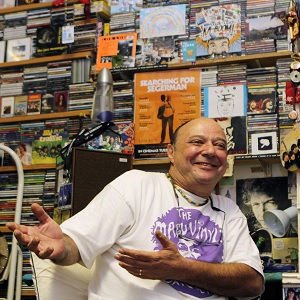 "Stephen Segerman in his ""Mabu Vinyl"" record store in Cape Town (photo credit: Courtesy)"