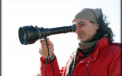 Ziad Doueiri on the set of his film (photo credit: Ziad Doueiri)