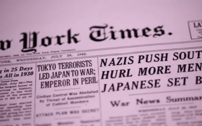 The self-proclaimed Paper of Record had at best a mixed one during World War II. (Kickstarter screenshot)