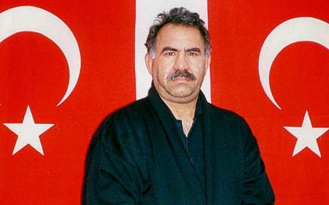 Kurdish rebel leader Abdullah Ocalan in Turkish custody in 1999. (photo credit: AP Photo/Turkish Intelligence Service, File)