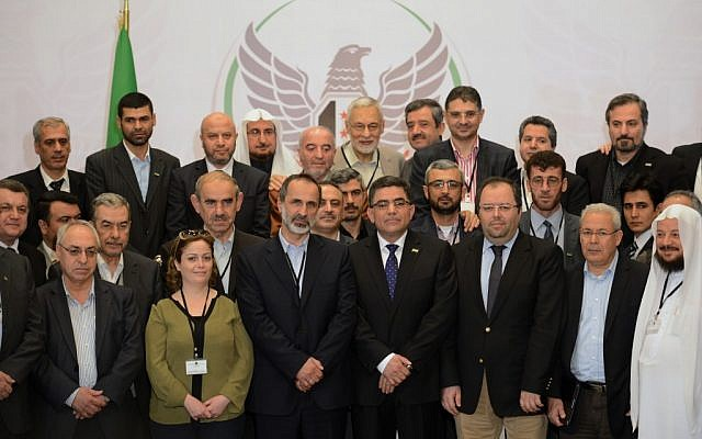 Members of the Syrian opposition meet in Istanbul, March 2013 (photo credit: AP)