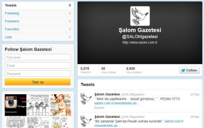 Several thousand followers read Salom's Ladino Twitter feed. (Screenshot)