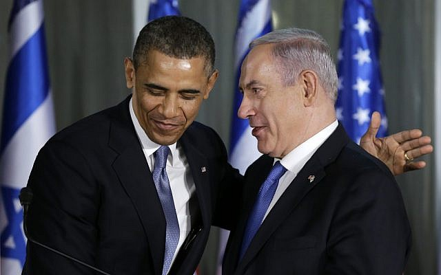 US President Barack Obama and Prime Minister Benjamin Netanyahu after a joint news conference, Wednesday, March 20, 2013, at the prime minister's residence in Jerusalem. (photo credit: AP/Carolyn Kaster)