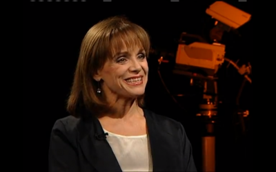 Valerie Harper traveled to Israel in 2007 for a screening of her film about Golda Meir. (YouTube screenshot)