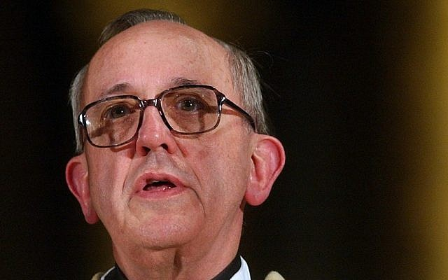 Pope Francis (photo credit: AP/Natacha Pisarenko/File)