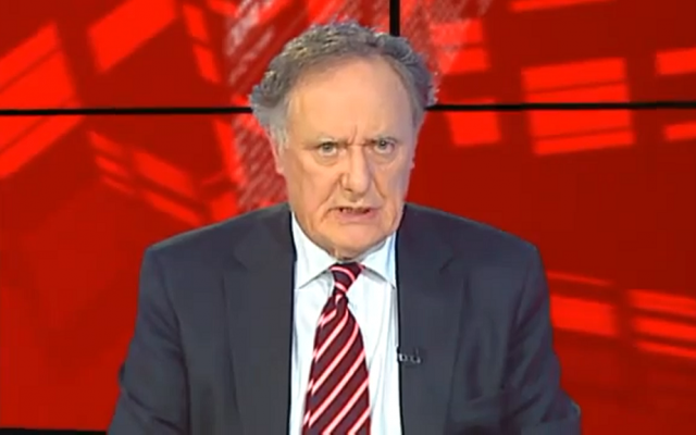 Irish TV host Vincent Browne has expressed regret for his word choice, but insists his comments on Israel weren't anti-Semitic. (YouTube screenshot)