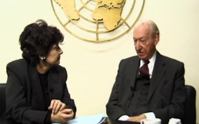 Kaufman's controversial interview subjects included Kurt Waldheim, the former UN secretary-general who served in the German army in WWII. (Courtesy of Gita Kaufman)