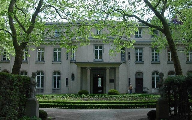 The villa at 56-58 Am Grossen Wannsee, where the Wannsee Conference was held. Today it is a memorial and museum. (photo credit: Adam Carr)