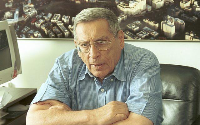 Slain tourism minister Rehavam Ze'evi, assassinated by the PFLP in 2001. (Flash90)