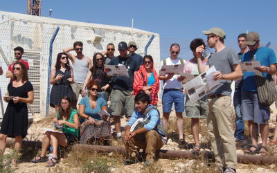 Members of Yachad tour the West Bank hills near Hebron. Britian's Zionist Federation recently rejected the group's membership application. (Courtesy of Yachad)