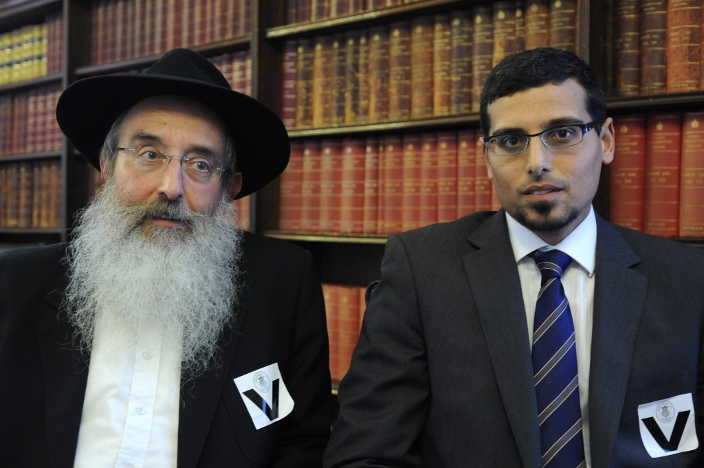 Manny Waks, pictured with his father, Zephaniah, has led the campaign to expose sexual abuse in Melbourne's ultra-Orthodox community. (photo credit: Tony Fink via JTA)