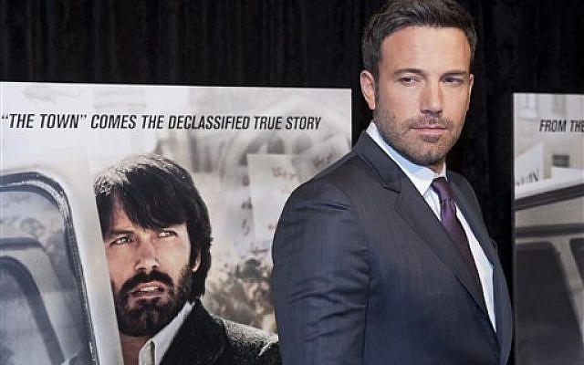 Director and actor Ben Affleck poses for photographers at the premiere of his film Argo, Washington, DC, USA, Oct. 10, 2012 (photo credit: AP Photo/Cliff Owen)