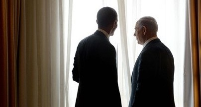 President Obama with Prime Minister Netanyahu in Israel in March, 2013 (photo credit: Avi Ahayon/GPO)