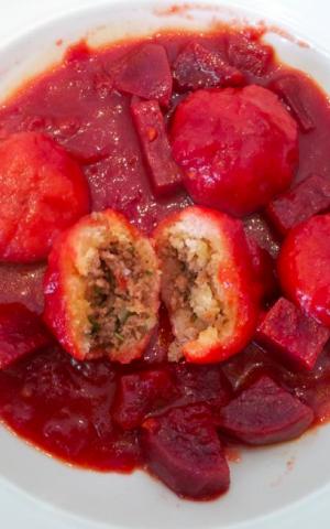 Orly Ziv's pre-Passover beet-rich kube (Courtesy Orly Ziv)